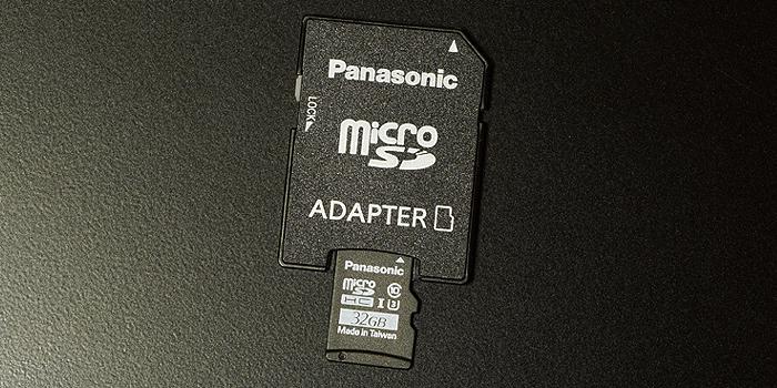 付属の「SD変換アダプタ」を使えば「SDカード」としても使用できる