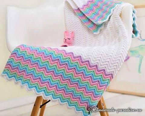 Patrón #1741: Manta Zig Zag a Crochet