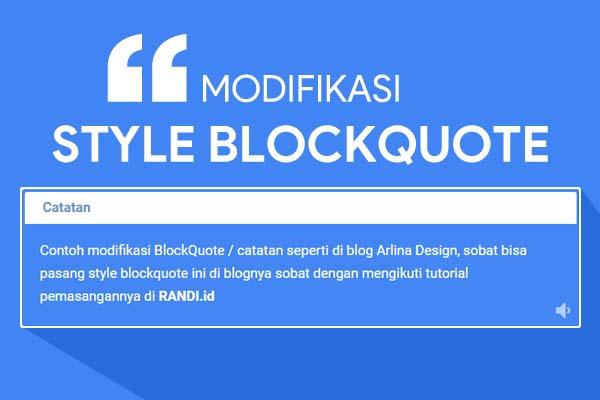 cara modifikasi blockquote ala arlinadzgn.com