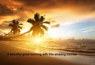 beautiful good morning image with sunrise
