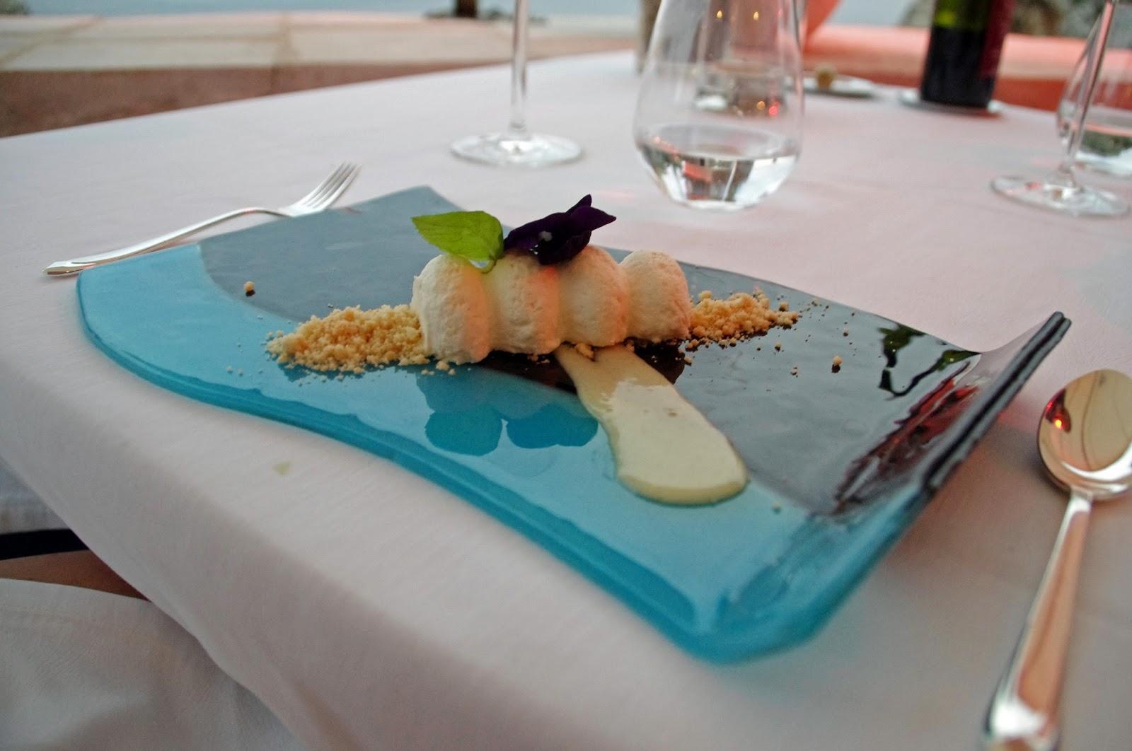 Lemon dessert at Nautika Restaurant Dubrovnik