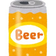 缶ビール�イラスト(350ml缶)
