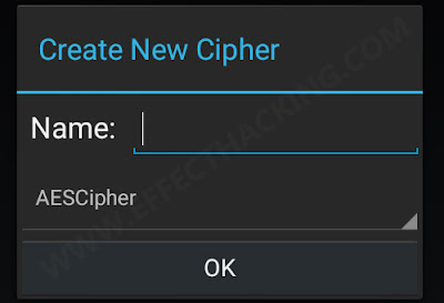 Create new cipher