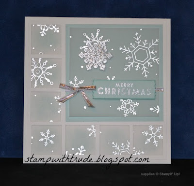 Tuesday Tutorial, Inchie, Inchies, Stampin' Up!, Flurry of Wishes, Christmas card, Trude Thoman, Stamp with Trude