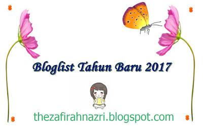 BLOGLIST TAHUN BARU 2017