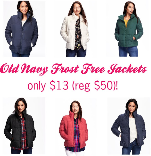 Old Navy Frost Free Jackets for only $13 (reg $50)