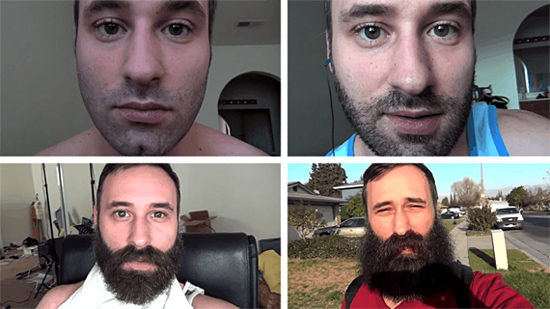 Barba crescendo Time-lapse