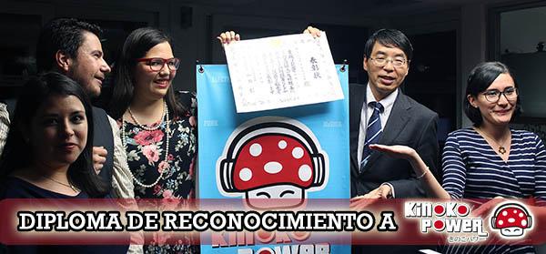 Reconocimiento de la embajada del Japón en México a Kinoko Power