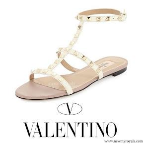 Princess Madeleine wore Valentino Rockstud Sandals