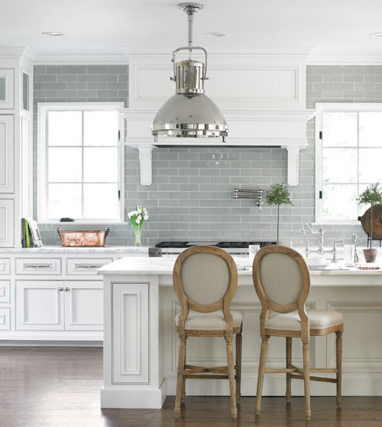Gray Subway Tile Kitchen: THE RINFRET GROUP
