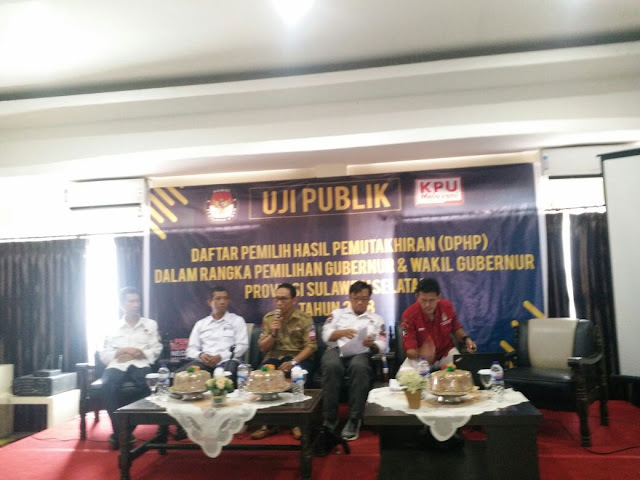 KPU Soppeng UjI Publik Daftar Pemilih Hasil Pemutakhiran