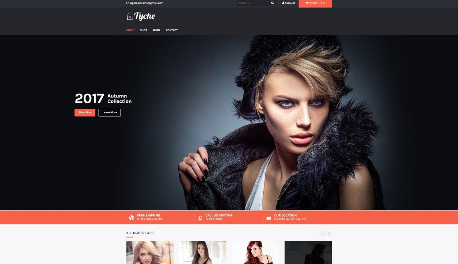 Giao diện website bán hàng wordpress Shopper