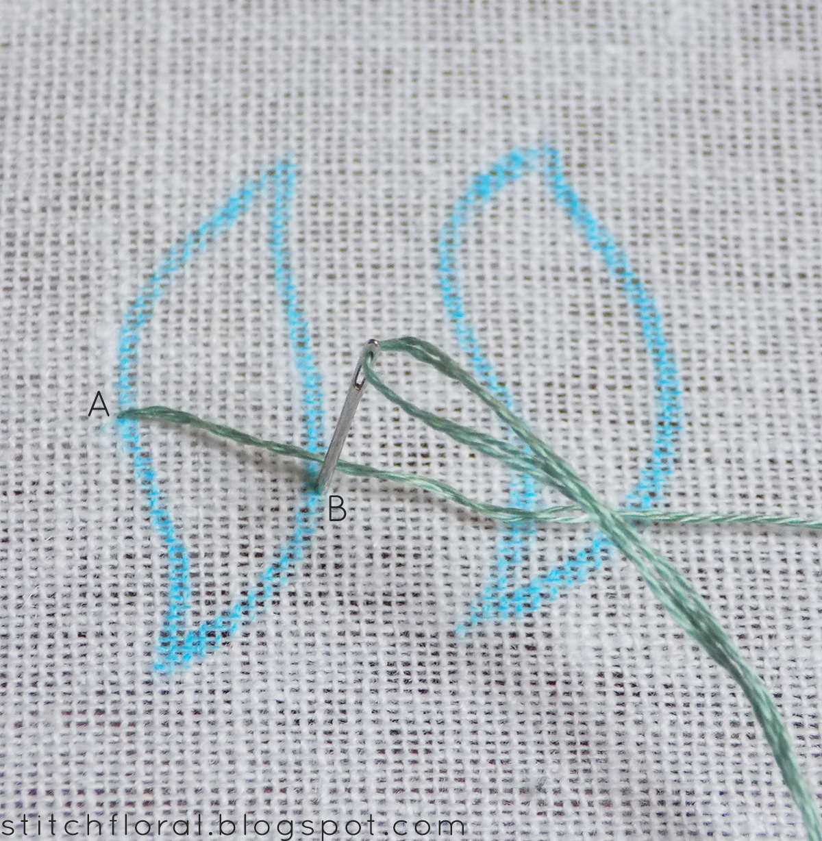 The Classics Of Hand Embroidery Satin Stitch Stitch Floral