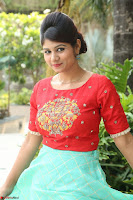 Lucky Shree Looks super cute in Bright Red Green Anarkali Dress ~  Exclusive 041.JPG