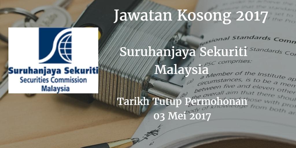 Jawatan Kosong Suruhanjaya Sekuriti Malaysia 03 Mei 2017