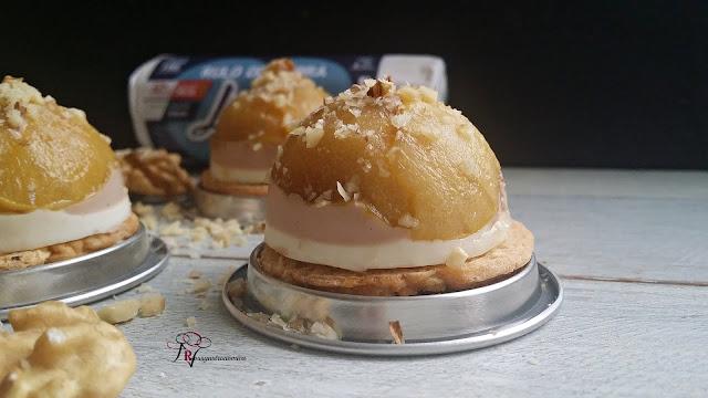 Canapé de foie, queso de cabra y manzana