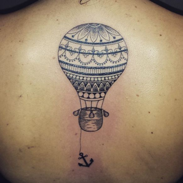 a0a11ffa3 Here are a meaningful air balloon and an anchor tattoo. The air balloon  represents your will to move up in life and touch the sky whereas the  anchor ...