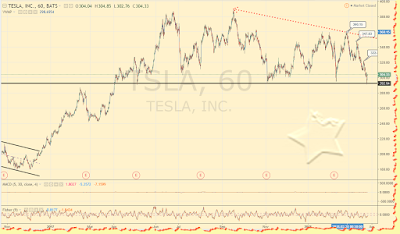 Tesla daily graph