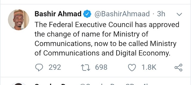Ministry of Communication Changes Name