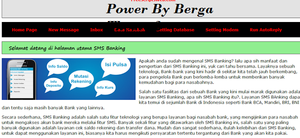 Source Code Program Web SMS Banking Berbasis PHP MYSQL Versi 2.1 By Berga