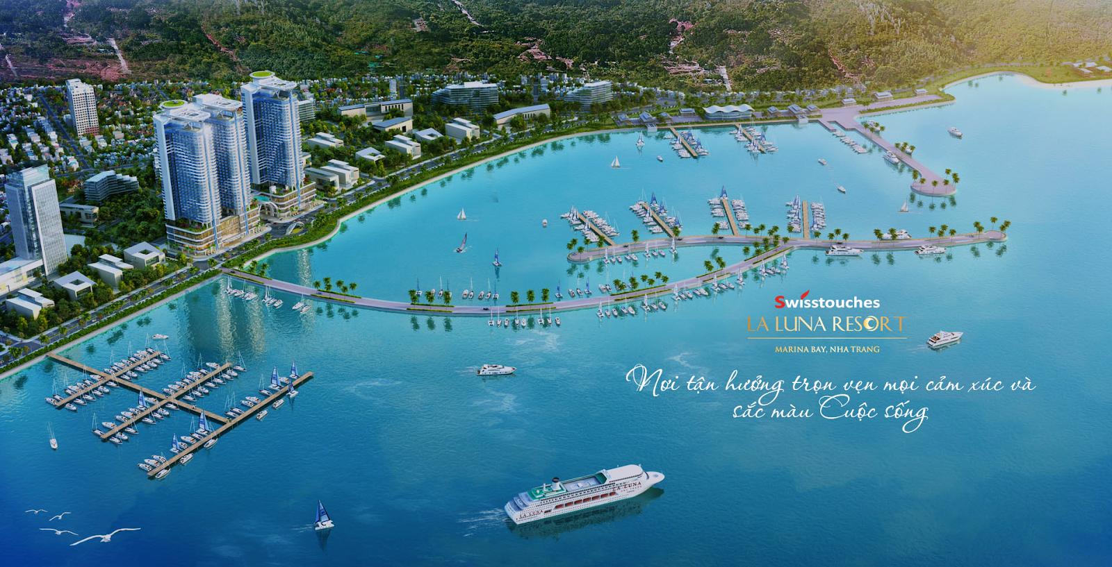 Phối cảnh dự án Swisstouches La Luna Nha Trang