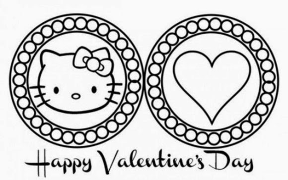 20 free printable hello kitty coloring pages fit to print for Hello kitty valentine coloring pages