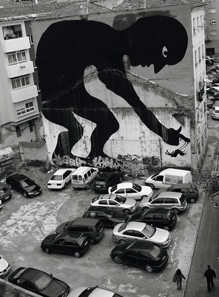 arte urbano mural en edificio