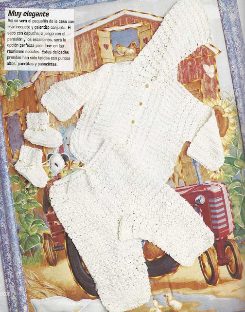 Patrón #1179: Ajuar Bebe a Crochet