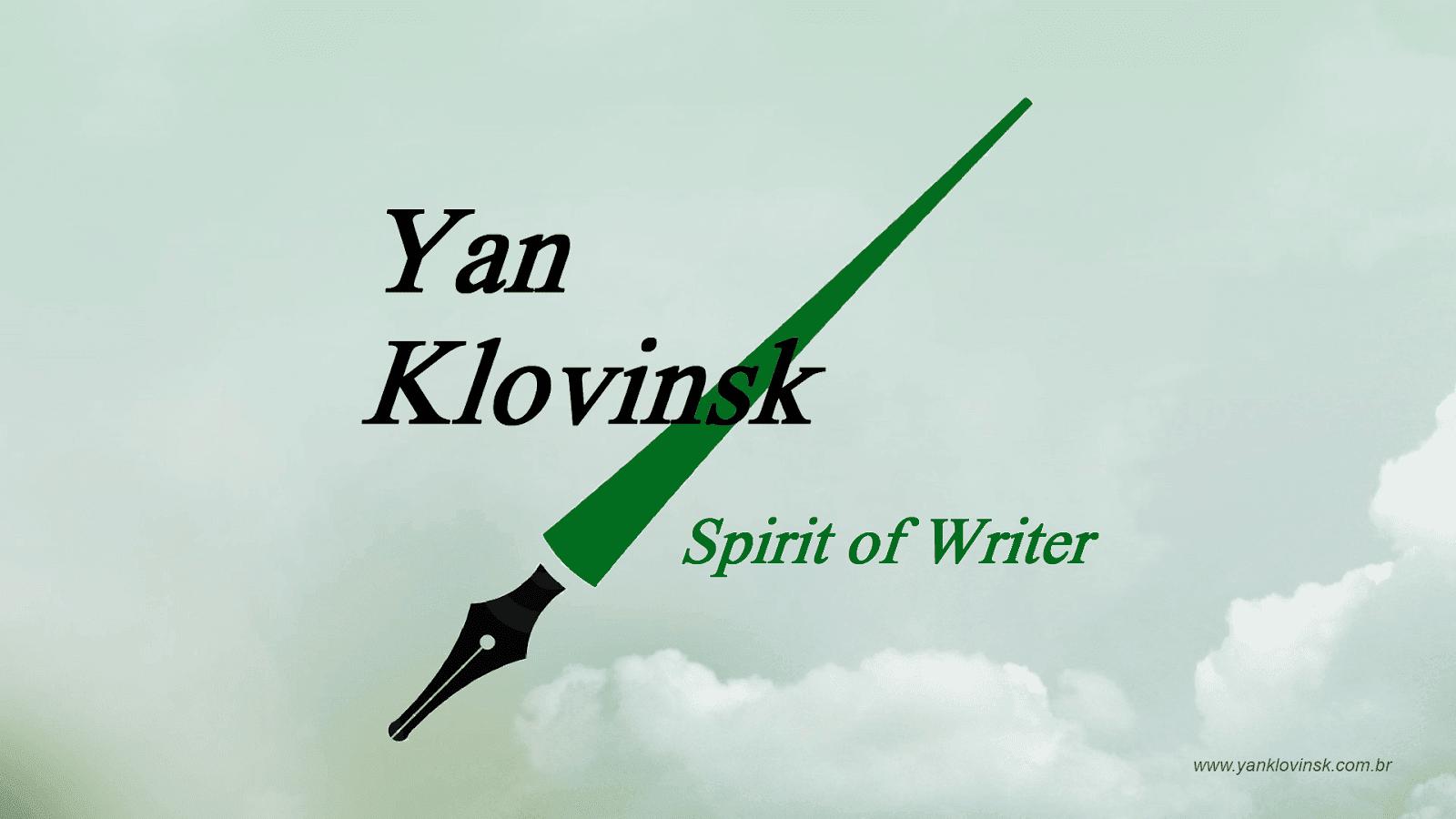 Logo Yan Klovinsk Escritor