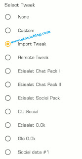 Tweakware Import Tweak Settings