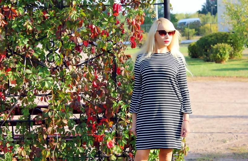 "ZAFUL Haul: Striped Casual Dress. ""Полосатое"" платье прямого силуэта / обзор, отзывы, фото"