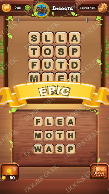 Word Bright Level 180 Answers, Cheats, Solutions, Walkthrough for android, iphone, ipad and ipod