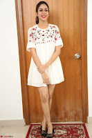 Lavanya Tripathi in Summer Style Spicy Short White Dress at her Interview  Exclusive 275.JPG