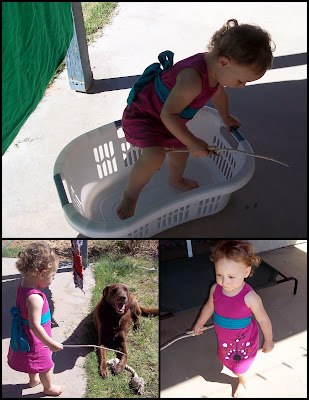 playing outside with dress