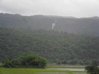 Waterfalls on the other side of Bangladesh