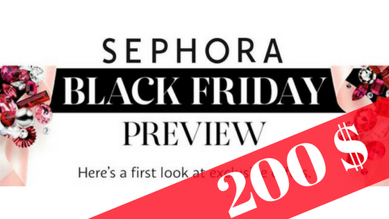 Black Friday! Le défi Sephora US