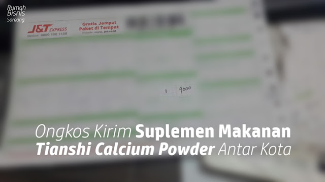 Ongkos Kirim Suplemen Makanan Tianshi Calcium Powder Antar Kota Bandung Pakai J & T