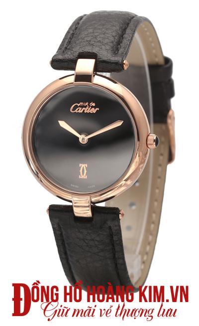 đồng hồ nữ dây da cartier
