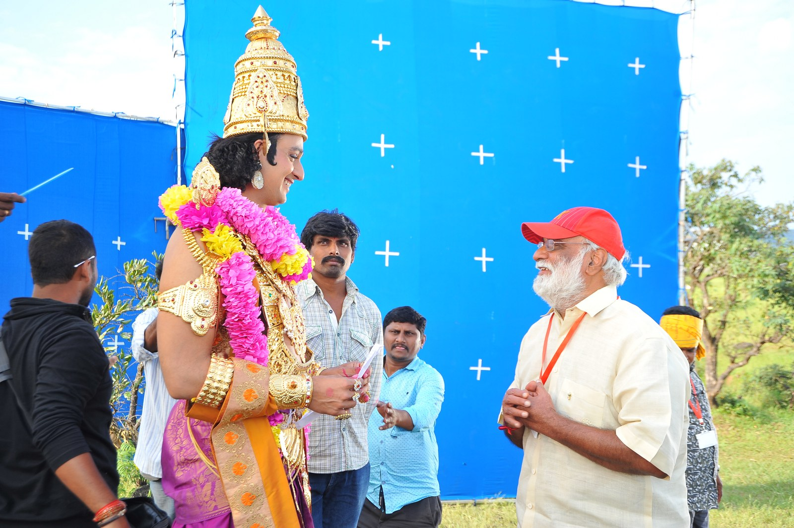 om namo venkatesaya working stills-HQ-Photo-10