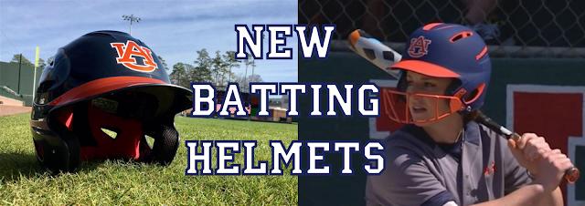 auburn baseball softball 2017 helmets