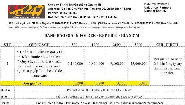 In folder giá rẻ