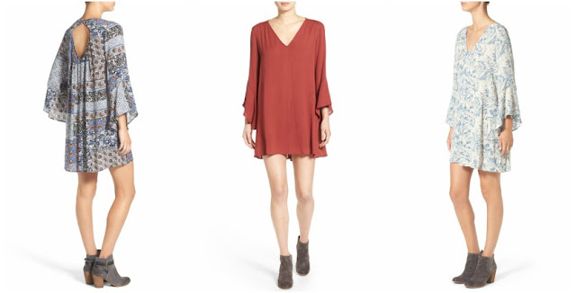 Lush Whitney Bell Sleeve Woven Shift Dress $29 (reg $48)
