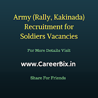 Army Recruitment for Rally, Kakinada Recruitment for Soldiers Vacancies
