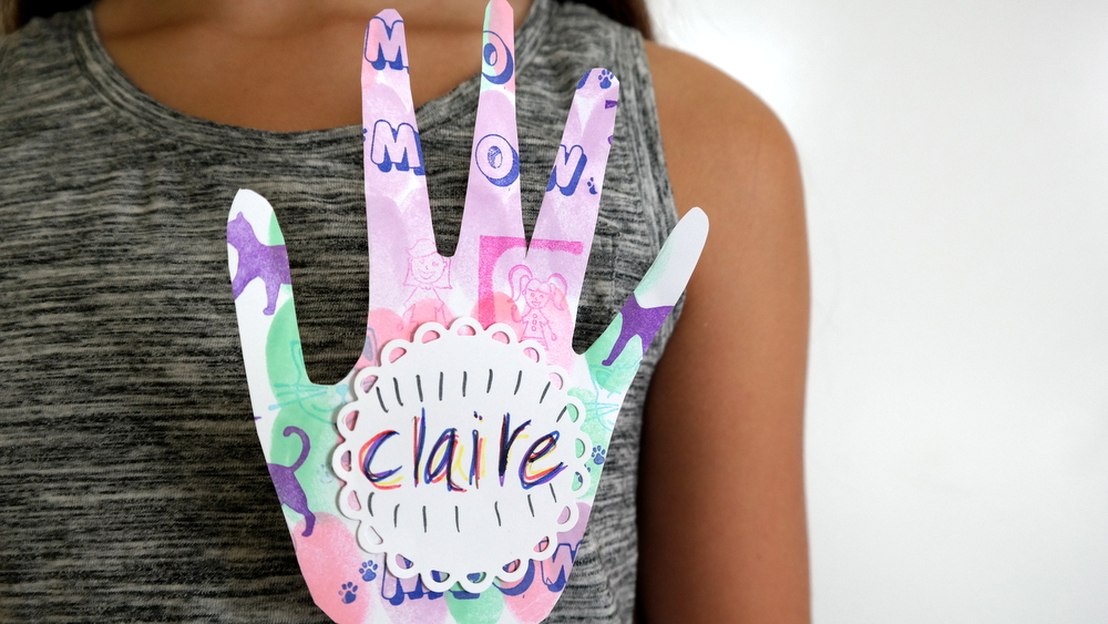 A Back To School Kids Craft Handprint Name Tags