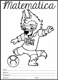 Capinha de caderno - Tema da Copa do Mundo 2018 na Rússia