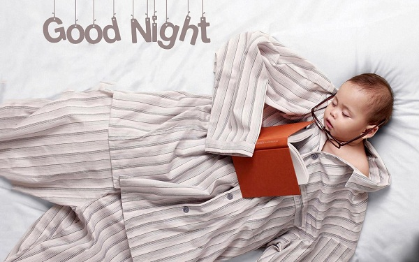 Cute Good Night Baby Boy Wallpaper