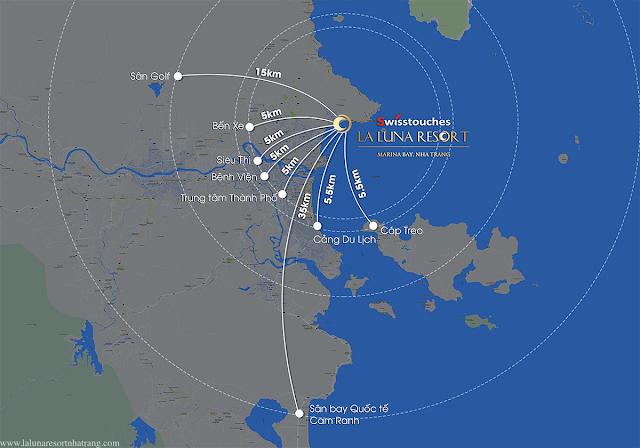 vị trí phong thủy của Laluna Nha Trang
