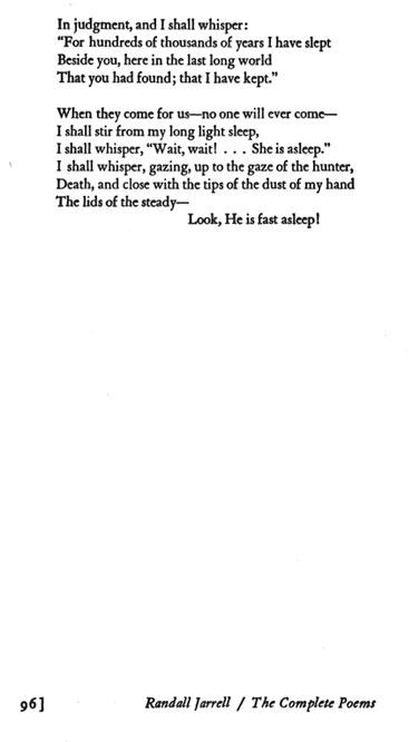 Randall Jarrell Poems 1