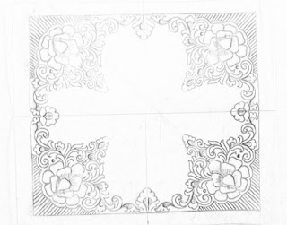 5 patterns for embroidery and machine embroidery saree jall khaka design drawing.all over Jaal khaka drawings on tracing paper for saree