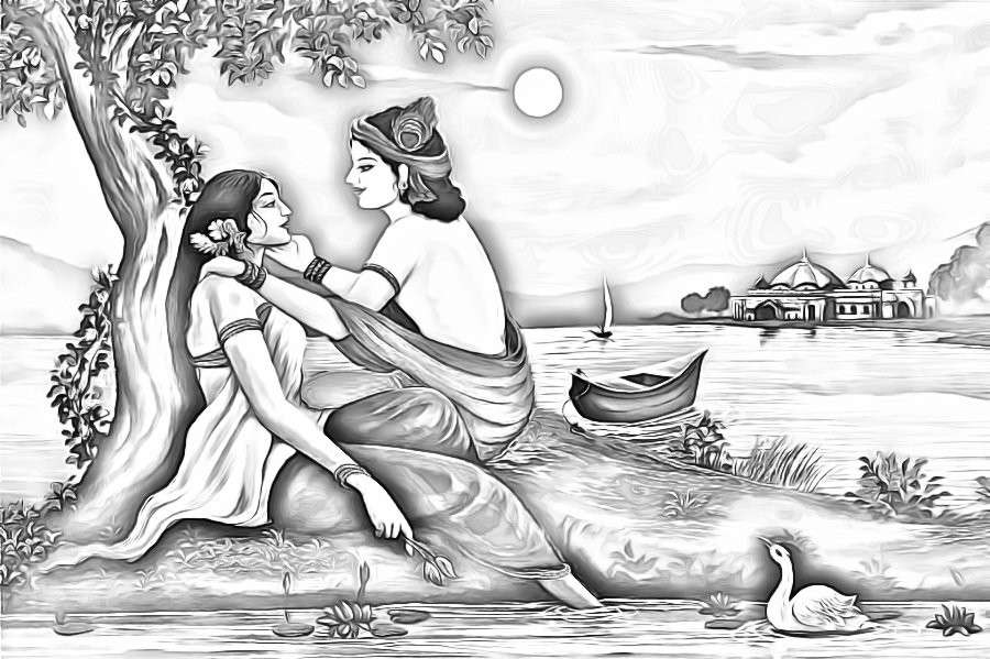 15 Janmashtami Drawing Images Sketches Paintings For Kids Happy